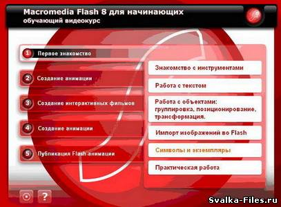 Видео курс Macromedia Flash 8